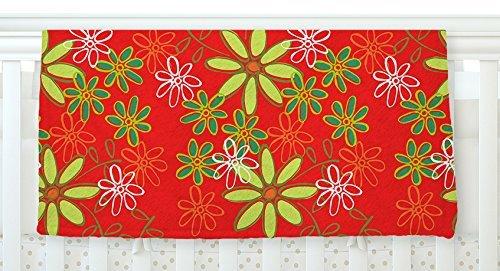 KESS InHouse Holly Helgeson Daisy Mae Red Floral Fleece Baby Blanket 40 x 30 [並行輸入品]   B077ZRMD27