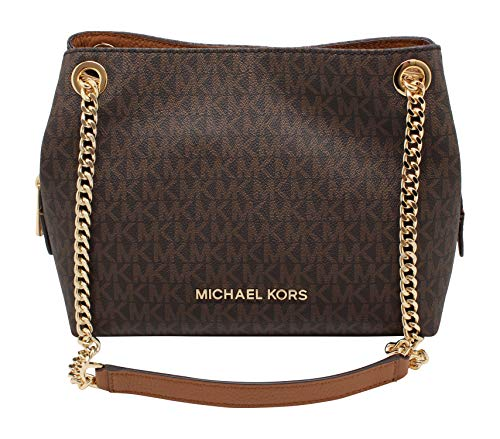 Michael Kors Medium Chain Messenger Signature Bag Brown Acorn (Michael Kors Flache)