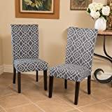 Jericho Quality Crafted Fabric Dining Chair (Set of 2) (Grey)