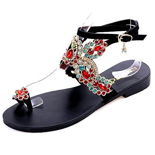 Sandals Summer Wind Ethnic Vacation Bohemian Roman Sandals Flippers Beach Flat nq0wFZ
