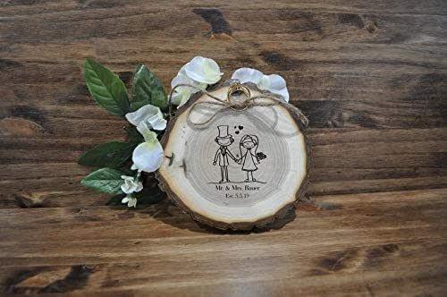 Amazon.com: Wood Ring Holder | Ring Bearer Pillow | Custom