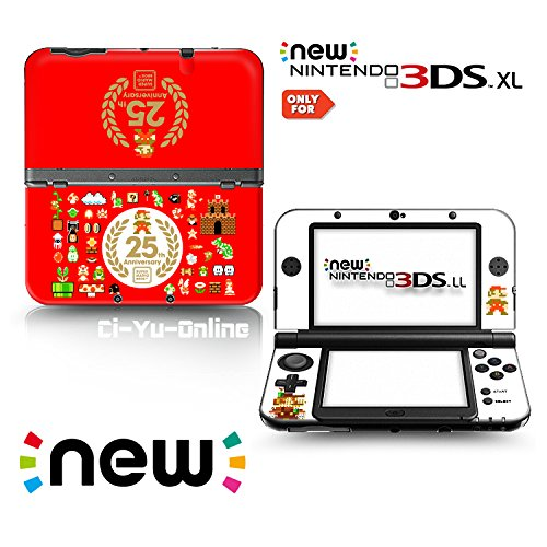 Ci-Yu-Online VINYL SKIN [new 3DS XL] - Super Mario Bros. All-Stars 25th Anniversary Red - Limited Edition STICKER DECAL COVER for NEW Nintendo 3DS XL / LL Console System (Mario Allstars)