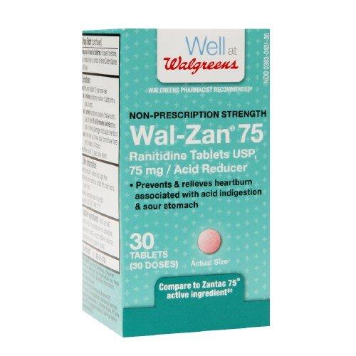 Walgreens Wal-Zan 75 Acid Reducer Tablets 30 ea