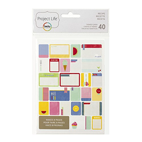 Project Life 97716 Theme Cards-Recipe (40 Piece) (Project Life Recipe Kit)