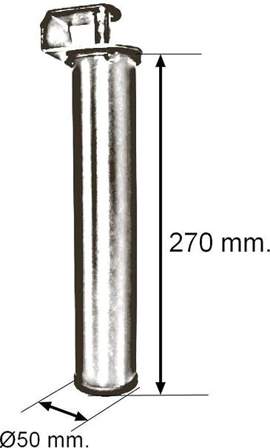 Imex El Zorro Juego 4 Patas canapé, Metal, Neutro,270 mm de alto y Ø50 mm