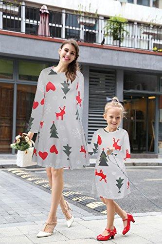 Regalos del árbol de navidad de las mujeres de la impresiones Chispee una línea vestido Gris # 1