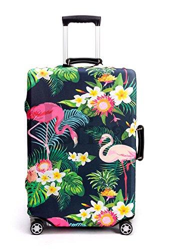 Periea Premium Suitcase Cover – Luggage Protection – 38 Designs – 3 Sizes (Tropical Flamingos, Large)