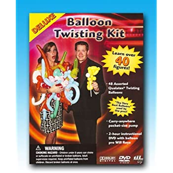 Will Royas Deluxe Balloon Twisting Kit with DVD, Inflator and Balloons