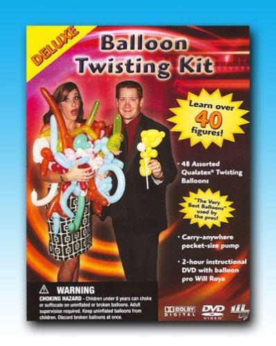 Will Royas Deluxe Balloon Twisting Kit with DVD, Inflator and Balloons Poodle Dvd
