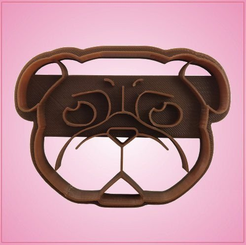 Embossed Pug Cookie Cutter 3-1/2 Inches Wide