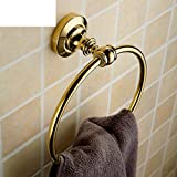 ZXS Bathroom european fine copper towel ring,Towel rack,Bathroom wall hanging,Towel shelf,Hardware pendant