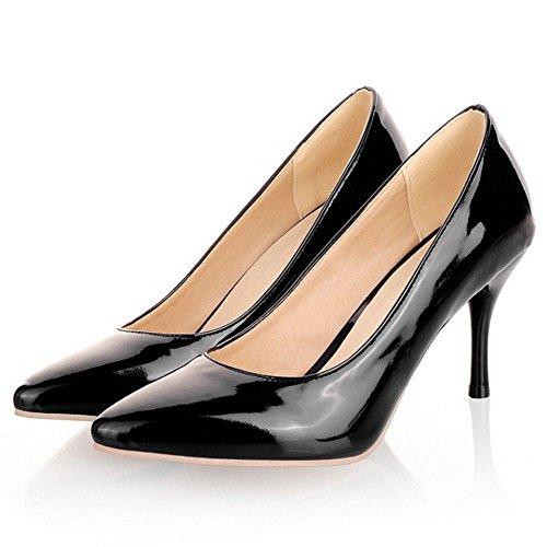 Coolcept Fashion Women Basic Simple Pointed Toe Stiletto Heels Work Court Shoes Black wPnAv9KTJv