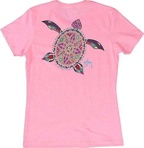 Guy Harvey Womens Turtle Beach T-Shirt Small Pink