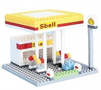 amazon otulet city builderシリーズgas station buildingブロックナノ