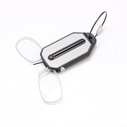 Gafas de lectura El llavero Unisex plástico simple titanio cómodo portátil de alta definición acrílico