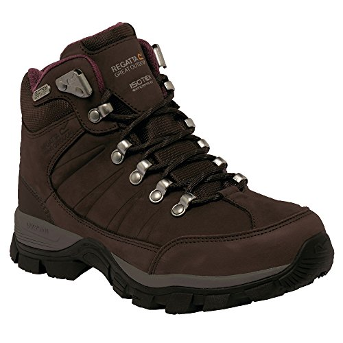 Trekking Pelle Regatta Burgundy Borderline dark Impermeabile Donna In Da Scarponcini Peat Ii BaBI1