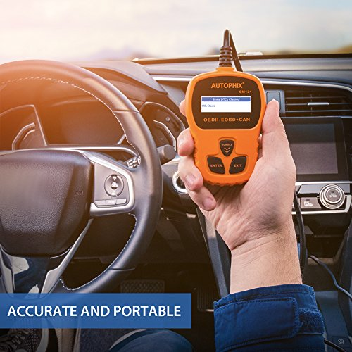OBD II Code Reader, Autophix OM121 Car Engine Fault Automotive Diagnostic Scan Tool Check Engine Light with I/M Readiness for Ford GM Acura BMW Buick and More (Orange) by AUTOPHIX (Image #5)