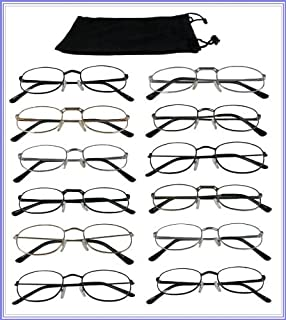 d5e6134397 Reading Glasses  +2.50  Wholesale Lot 12 Pair Metal Frame Reader Assorted  Styles 2.50
