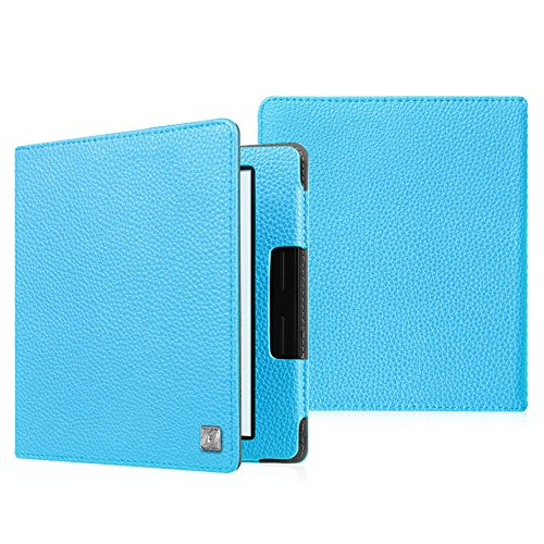 Merlot Leather Folio (Fintie Folio Case for Kindle Oasis (8th Generation, 2016 Released ONLY) - The Book Style Premium Vegan Leather Cover with Auto Sleep/Wake Feature for Amazon 6-Inch Kindle Oasis E-reader, Blue)