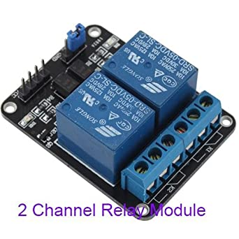 generic 5v 10a 2 channel relay module shield for arduino arm pic avr rh amazon in 2 channel relay board pdf 2 channel relay board 12v