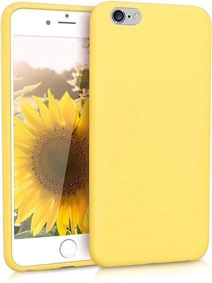 kwmobile Coque pour Apple iPhone 6 Plus / 6S Plus - Housse Protectrice pour Téléphone en Silicone Jaune Pastel Mat
