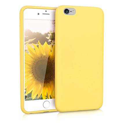 online store 1f1db 82ad0 kwmobile TPU Silicone Case for Apple iPhone 6 Plus / 6S Plus - Soft  Flexible Shock Absorbent Protective Phone Cover - Pastel Yellow Matte