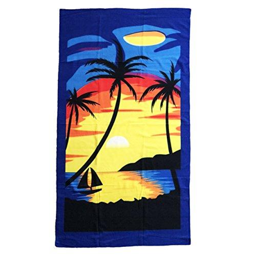 "Allgala Oversize 40""x70"" Microfiber Beach Towel, Sunset-BT81"