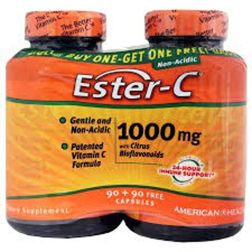 Ester C With Bioflavonoids Bogo 1000 mg - 180 Caps Total American Health 90 Tablets