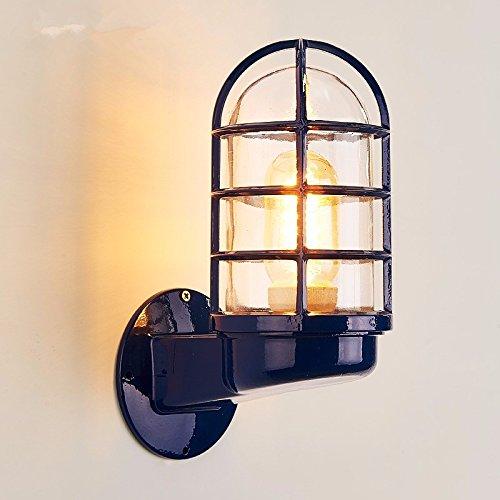 Anbiratlesn Modern E27 Vintage Rustikal Wandlampe für Schlafzimmer Wohnzimmer Korridor Badezimmer Küche Treppe 12 CM  20 CM