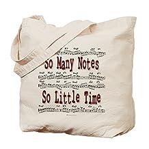 CafePress - So Many Notes - Natural Canvas Tote Bag, Cloth Shopping Bag