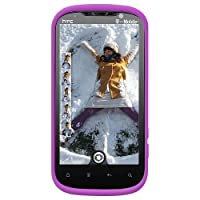 Amzer Silicone Skin Jelly Case For HTC Amaze 4G - Purple 1 pk-Case