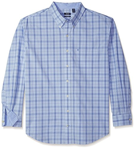 IZOD Men's IZOD Men's Premium Performance Natural Stretch Check Long Sleeve Shirt (Big & Tall and Tall Slim)