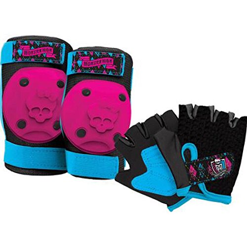 Monster High Girls Skate / Bike Knee Pads, Elbow Pads & Gloves - 6 Piece (Girl Monsters)