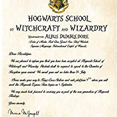 Custom Hogwarts Acceptance Letter.A Personalized Hogwarts Acceptance Letter Any Harry Potter Fan Would