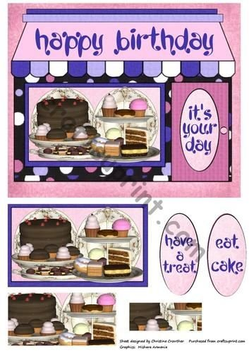 Pleasing Birthday Cake Shop By Christine Crowther Amazon Co Uk Kitchen Home Funny Birthday Cards Online Elaedamsfinfo