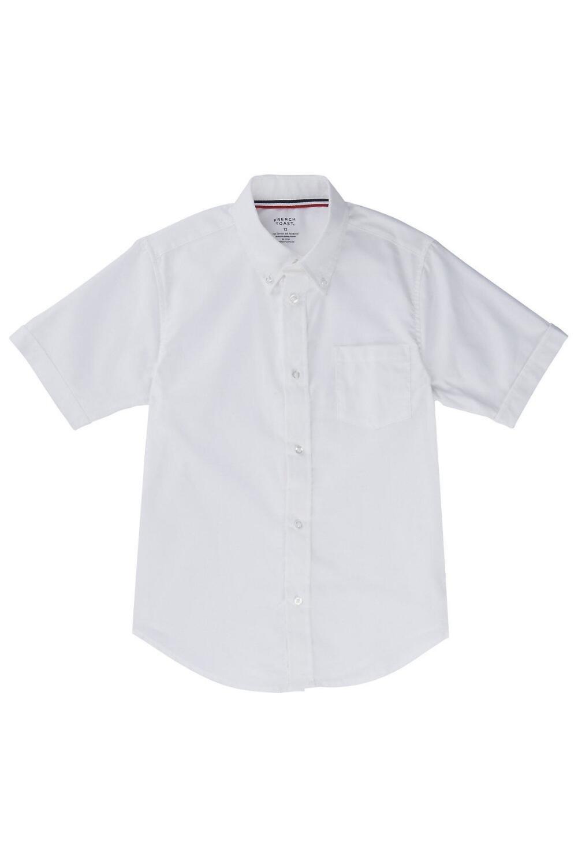 French Toast Little Boys' Short Sleeve Oxford Dress Shirt, White, 4
