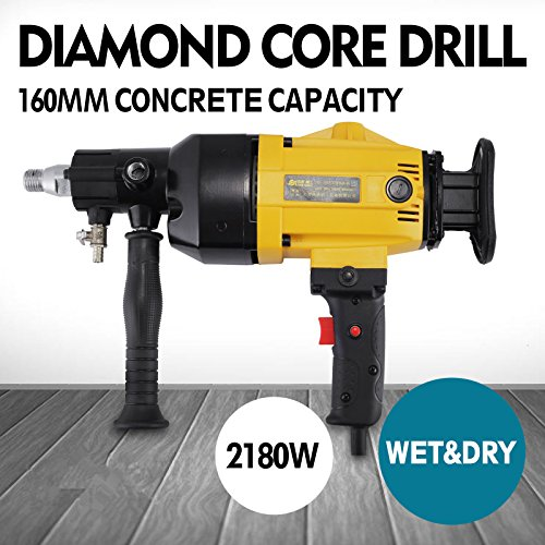 OrangeA Diamond Core Drilling Machine 6 Inch 160 mm Handheld Diamond Core Drill Rig Variable Speed Wet Dry Core Drill Rig for Diamond Concrete Drilling Boring (160mm)