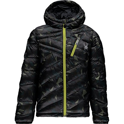 Spyder Boy's Dolomite Hoody, Mini Guard Camo, Large Spyder Boys Jacket
