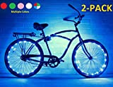 Bike Wheel / Lights (2 PACK)- Colorful Light Accessory For Bike - Perfect For Burning Man / Festivals (Blue)