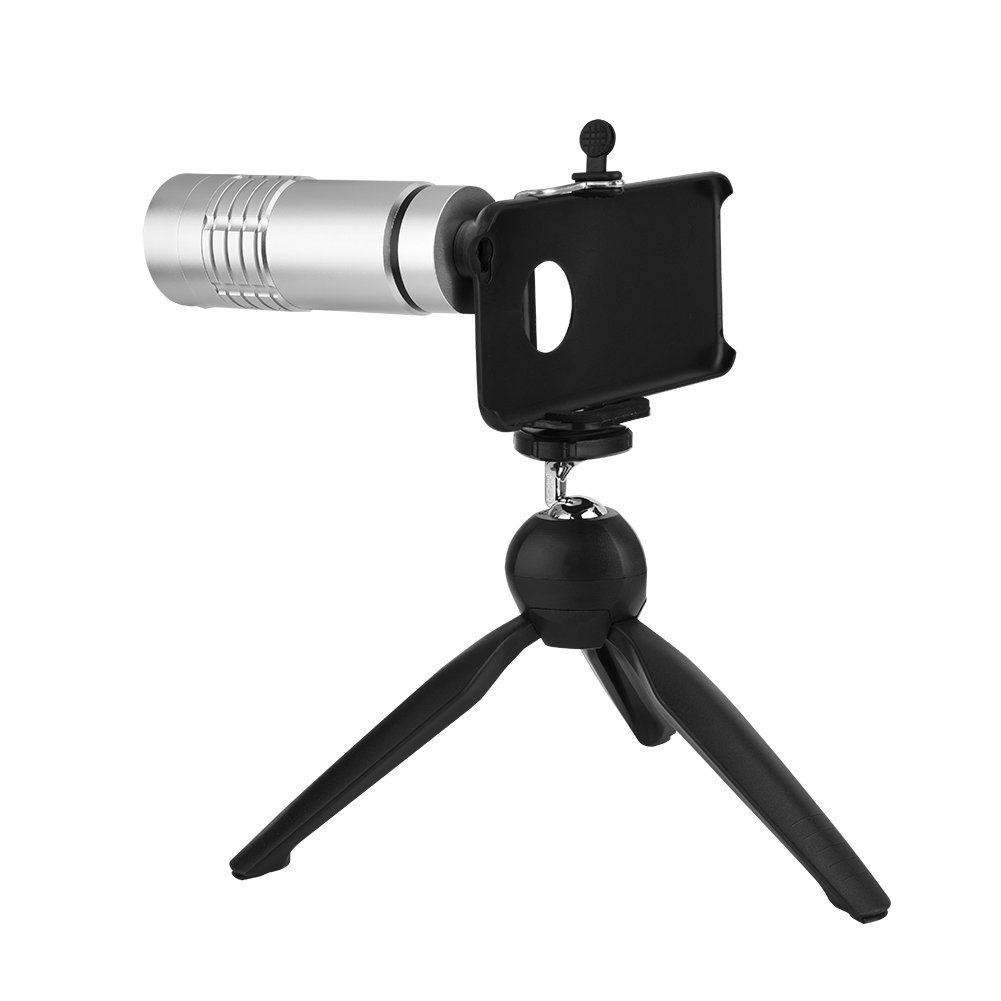 Fosa 15X Optical Telescope Lens Telephoto Zoom Lens with Tripod For iPhone 6/6 plus(White) by fosa
