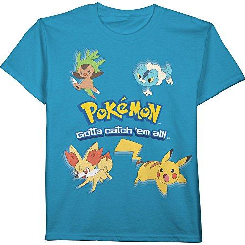 ed7fc4a50 Pokemon gotta catch em all pikachu boys shirt blue clothing jpg 500x500 Pokemon  shirts cheap