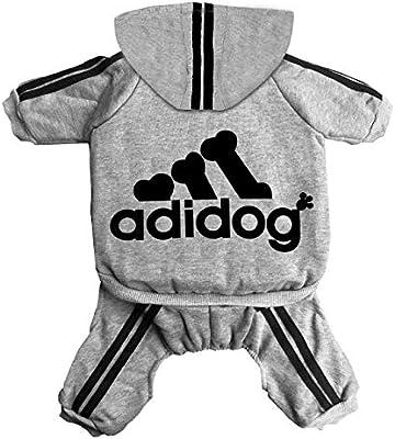 Apparel Cotton Jacket Sweat shirt Coat for Small Dog /& Medium Dog /& Cat Fleece Basic Hoodie Sweater Rdc Pet Adidog Dog Hoodies Grey,XL