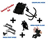 feet claws - NINJA Combo Set Grappling Hook, Hand claws & Foot Spike Climbing Gear. by Unknown