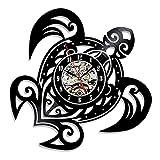 Cheap TOOGOO Sea Turtle Shape Classic Wall Clocks Gear Clock Face Decoration Art Clock Vinyl Record Wall Clock
