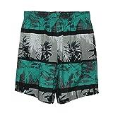 Laguna Originals Mens Coronado Paradise Swim Trunks with Lace Drawcord in Jade, Size 2XL
