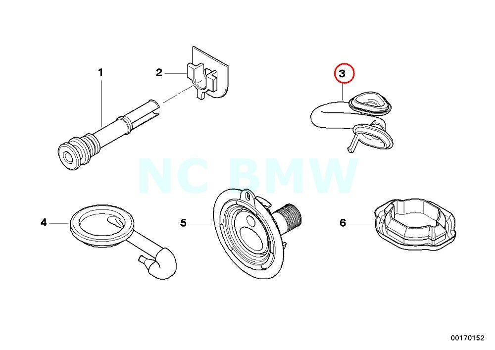 BMW Genuine Right Trunk Lid Rubber Grommet