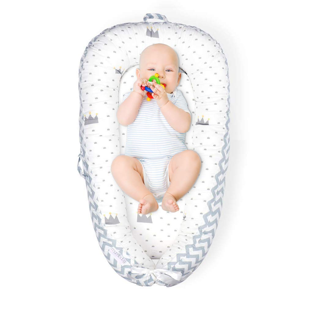 Mamibaby Baby Lounger Baby Nest 100% Soft Breathable Cotton Newborn Lounger Perfect for Co Sleeping,Portable Crib Baby Bed Bassinet Snuggle Bed for Travel,Suitable for 0-12 Months Infant: Baby