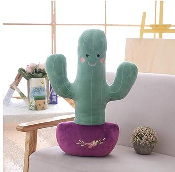 Lindo simulado Cactus de Peluche de Juguete Suave Relleno de ...