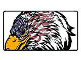 Eagle and American Flag Extra Large Gaming Mouse Mat Non-Slip Rubber Base Sticthed Edge Mousepad for Computer Desk Stationery Accessories 15.5 x 29.5 inch