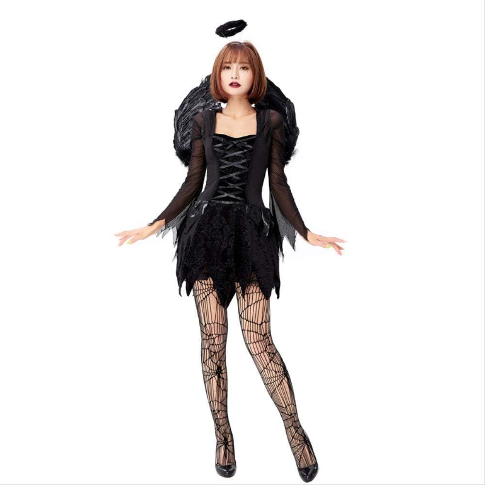 Disfraz de Cosplay de Halloween, ángel y Demonio Adulto, ángel ...